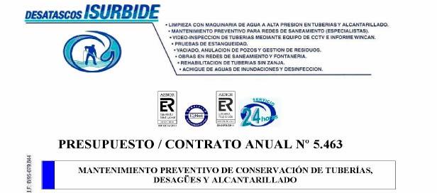 isurbide contrato de mantemiento obras saneamiento bizkaia cantabria alava