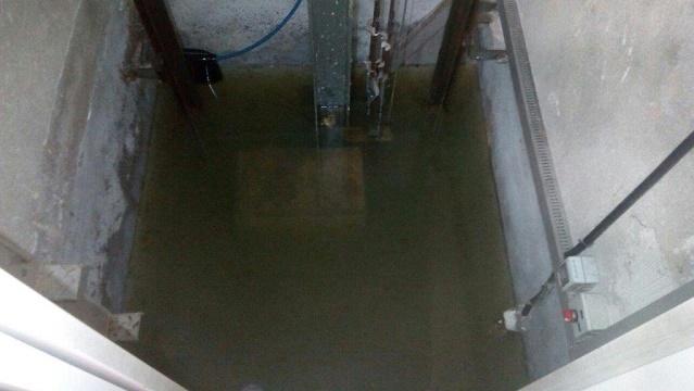 achicar agua foso ascensor impermeabilizacion