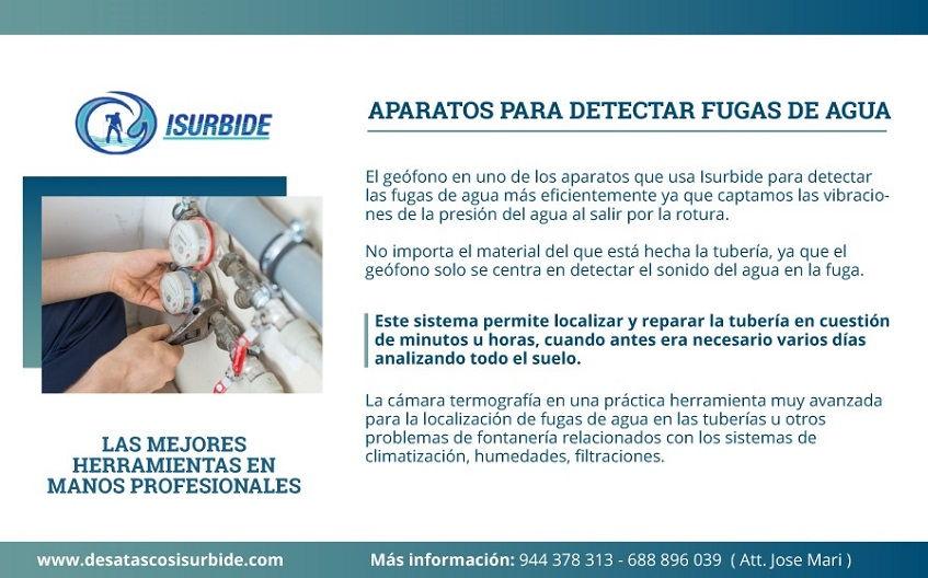 aparatos para detectar fugas de agua