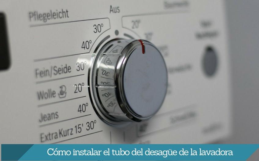 Cómo instalar el tubo del desagüe de la lavadora
