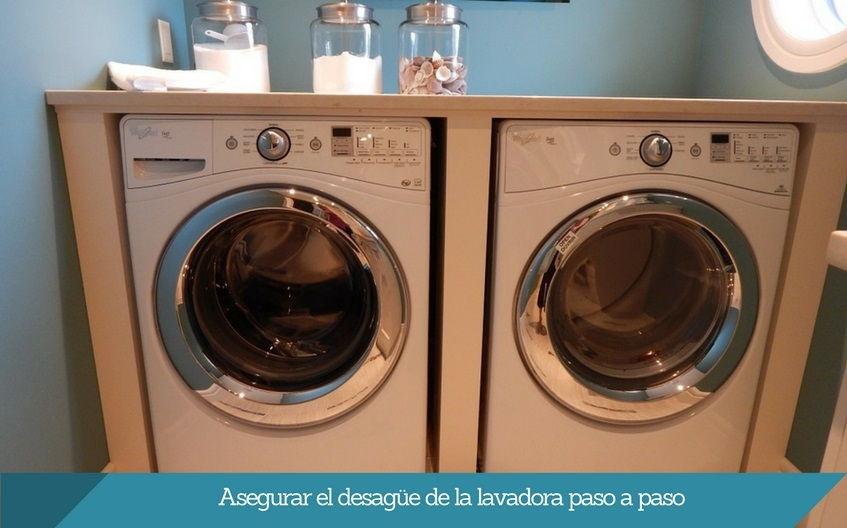 asegurar el desague de la lavadora ISURBIDE