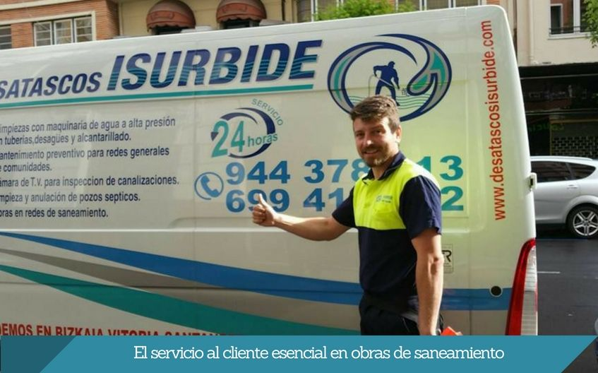El servicio al cliente esencial en obras de saneamiento