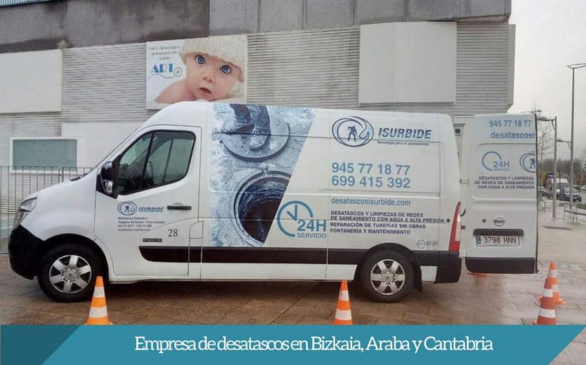 empresa de desatascos Bizkaia Araba Cantabria ISURBIDE