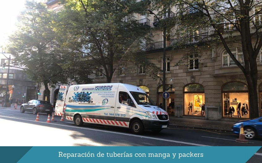 Reparacion de tuberias con manga y packers isurbide