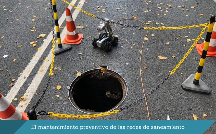 El mantenimiento preventivo de redes de saneamiento isurbide