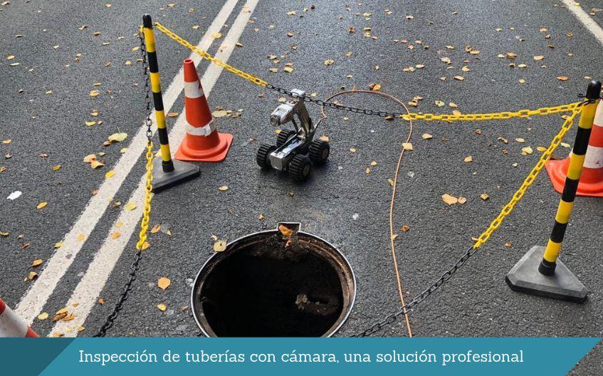Inspeccion de tuberias con camara bilbao desatascos isurbide